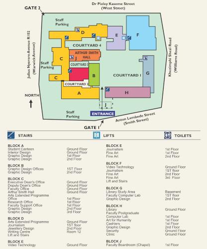 City Campus site map 20-09-18