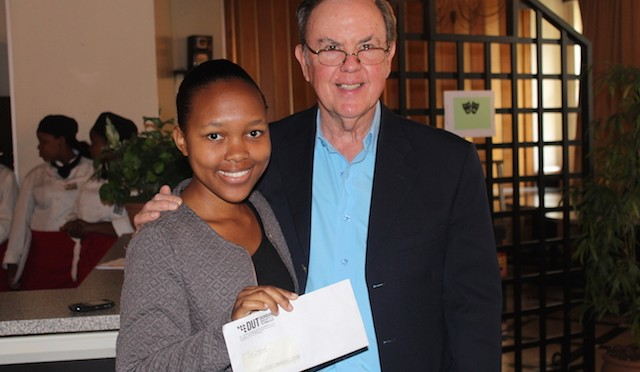 Thembeka Thabede with Mr Clive Wilson