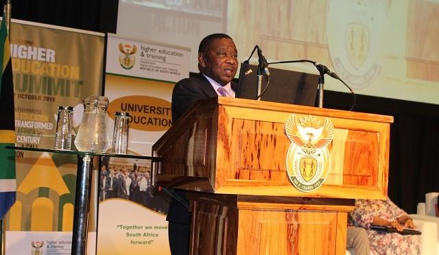 Dr Blade Nzimande- 2015 Education Summit