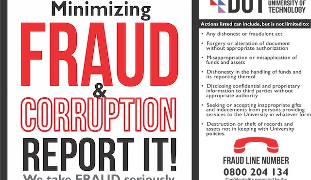 Web Fraud and Corruption Poster