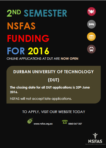 nsfas 2nd semester applications durban university of. Black Bedroom Furniture Sets. Home Design Ideas