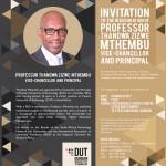 DUT VC Inauguration Invitation