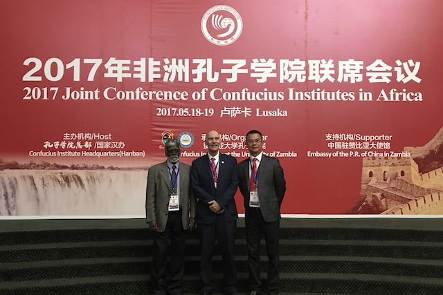 DUT CI Represeantatives attending the  2017 Joint Conference of Confucius Institutes in Africa