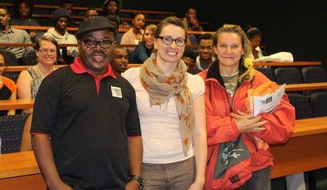 Maria Doering with dept of Fine Arts staff 001