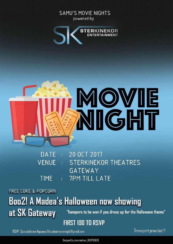 Movie Night Poster.