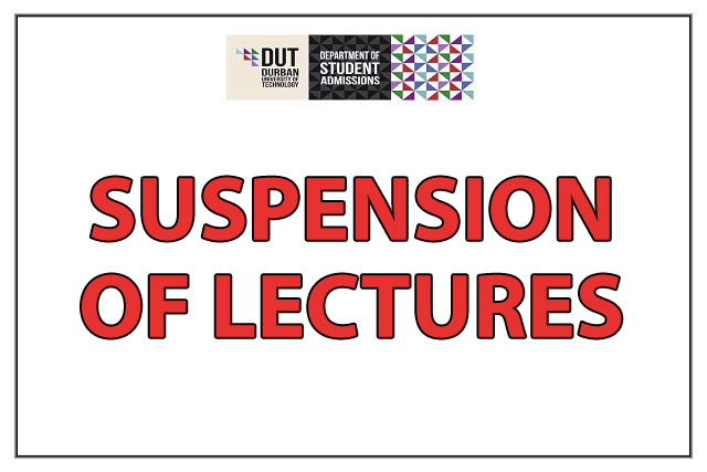 Dut Suspension Of Lectures 2018 Zar