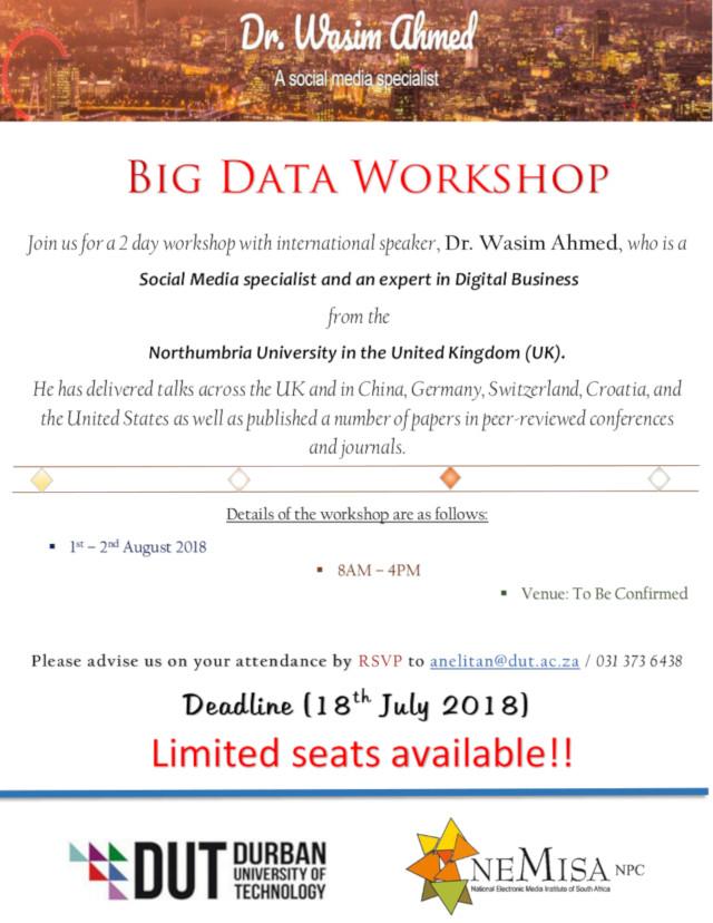 Big Data workshop invitation