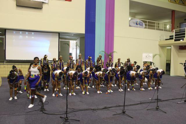 Intercultural Studies students performing IsiZulu Traditional Dance