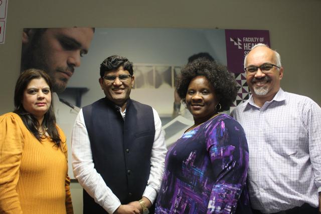 Professor Raisuyah Bhagwan , Dr Chandrakant Puri , Executive Dean of Faculty of Health Sciences