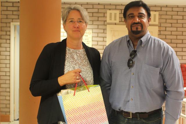 Dr Lavern Samuels with Dr Anja Hallacker