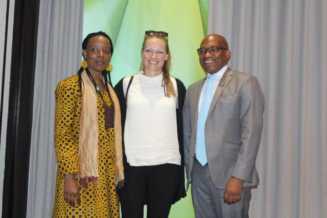 Prof Sibusiso Moyo, Dr Adriana Marais and Prof Thandwa Mthembu