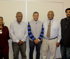 Dr Dumisile Hlengwa, Sazi Thema, Robert Thema, Dr Reginald Thabede and Dr Lavern Samuels