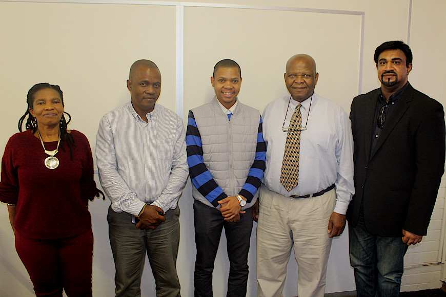 Dr Dumisile Hlengwa, Sazi Thema, Robert Thema, Dr Reginald Thabede and Dr Lavern Samuels