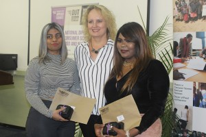 Shanice Nair, Professor Carin Napier and Shivneta Singh