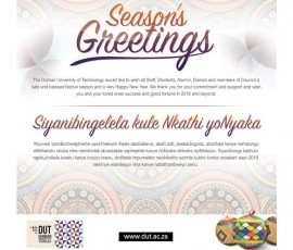 DUT Season greeting 2018
