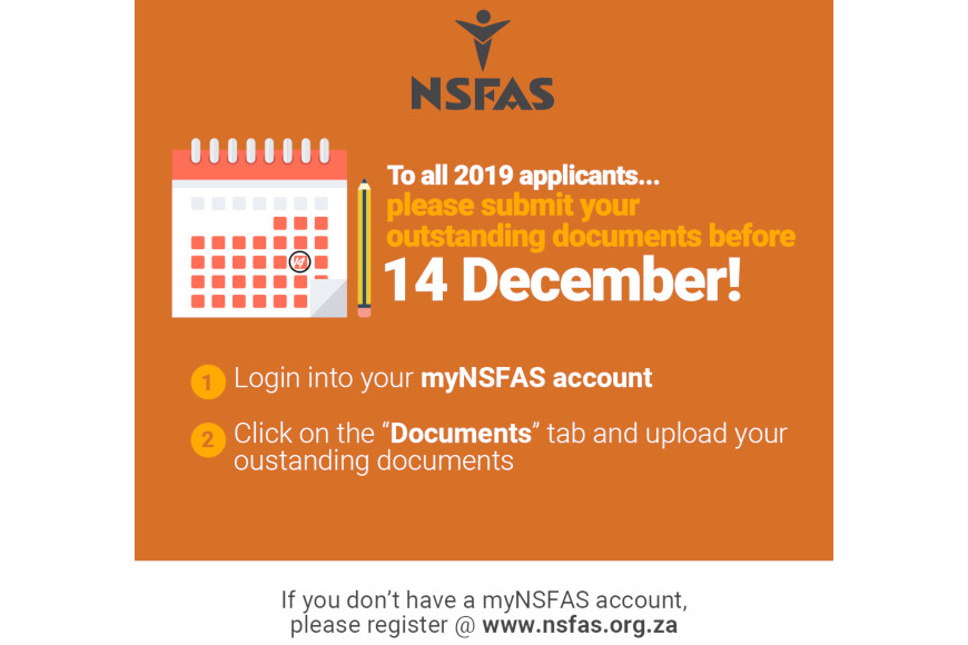 NSFAS outstanding docs