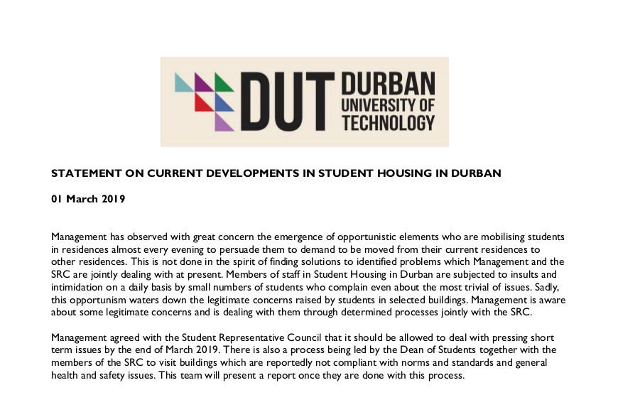 Student housing Statement2
