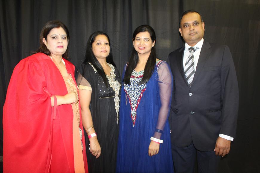 Prof Rai Bhagwan, Maureen Ashokcoomar, Shinese Ashokcoomar and Ryan Dukhi