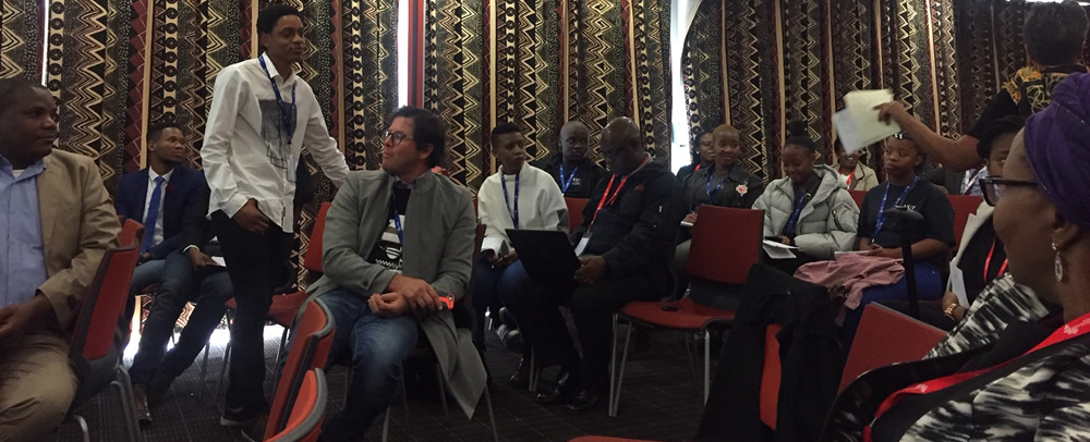 Delegates debated robustly during discussions on Knowledge Exchange for Change -- one of nine themes which made up the agenda for Track 1: Developing Student Entrepreneurship on the 3rd day of the EDHE Lekgotla.