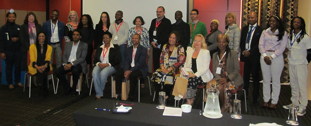 "Attendees in Track 3: Developing Entrepreneurial Universities on Day 3 of the EDHE Lekgotla. In the front row sit members of the panel that led discussions in this track. From left, Dr Poppet Pillay, Session Chair and Convenor of the EDHE Community of Practice for Entrepreneurial Universities: DUT; Prof Deresh Ramjugernath, DVC: Research, UKZN; Ms Ntombi Mthembu, Human Resources and Entrepreneurship Lecturer, Mangosuthu University of Technology (MUT); Mr Edward Selebi, lecturer in Business Management at MUT; Ms Charleen Duncan, Convenor of the EDHE Community of Practice for Entrepreneurial Universities, University of the Western Cape; Ms Jaana Puukka, Founder: Innovation Engage who had presented a paper in the plenary titled ""Unleashing the entrepreneurial potential of universities: Lessons from near and far and Prof Sibusiso Moyo, DVC: Research andInnovation: DUT."