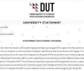 University Statement