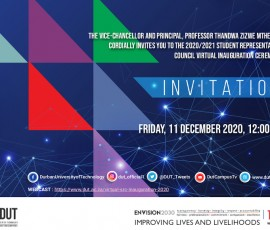 DUT Virtual SRC Inauguration Invitation