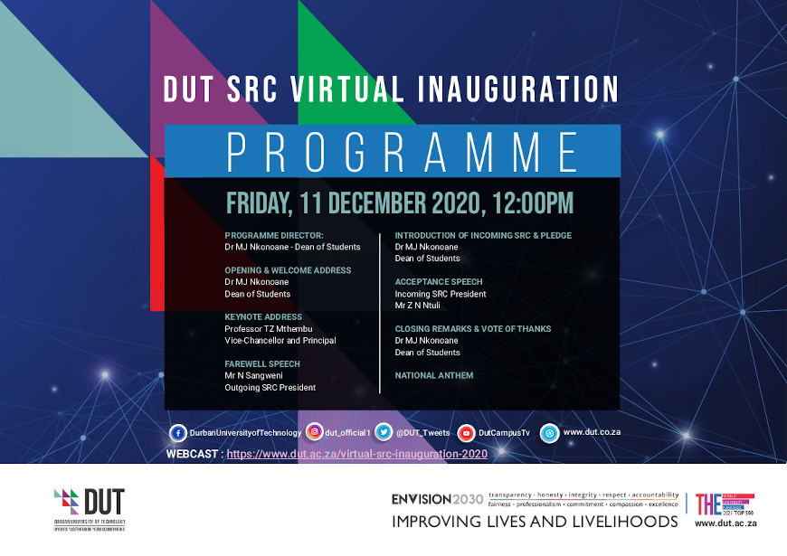 SRC Virtual Inauguration Ceremony INVITATION