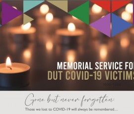 DUT Memorial Service for COVID-19 Victims.