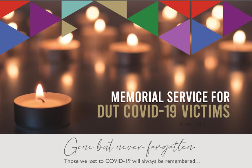 DUT Memorial Service for COVID-19 Victims.