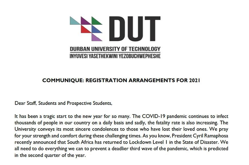 Communique Amended Registration